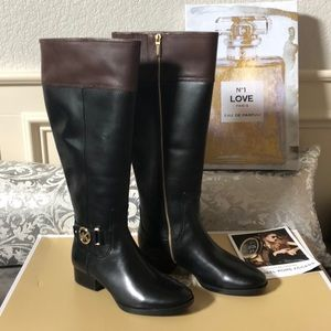 New In BOX Michael Kors Riding Boots Wide Calf 7.5